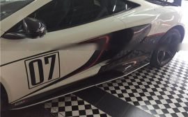 McLaren 650S Carbon Fiber Side Intake Tuning Vanes Replacement
